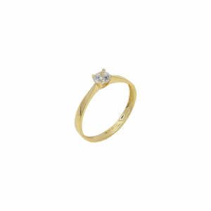 Inel de logodna aur 14k pietre zirconiu