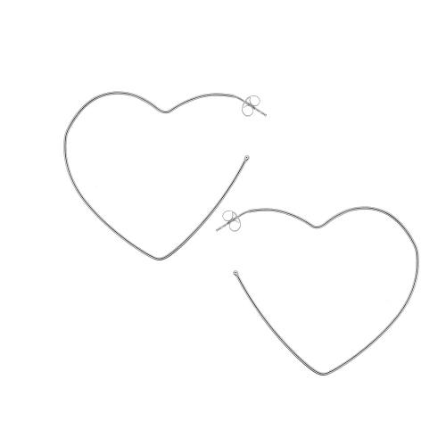 Cercei argint inima - 647750