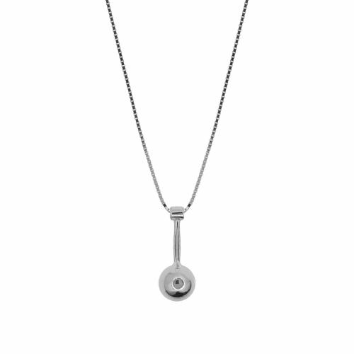 Lant argint cu pandantiv geometric - 639519