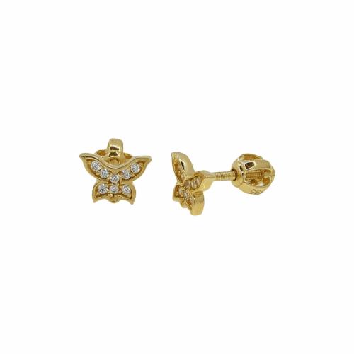 Cercei aur 14k fluture - 2904826016000