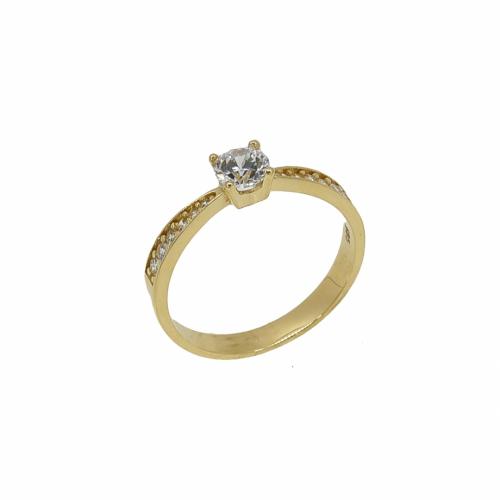 Inel de logodna aur 14k zirconiu - 2904835018705