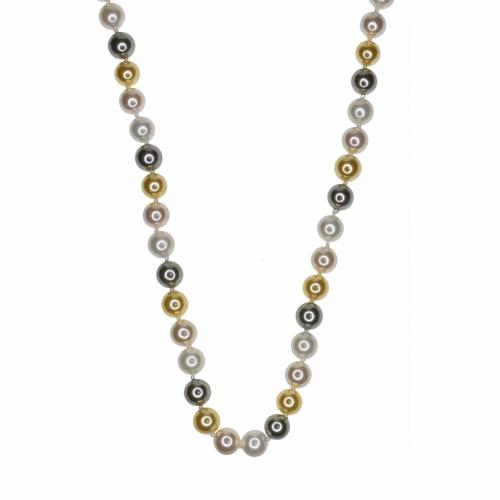 Colier perle naturale din scoica mix - 4000000005520x*
