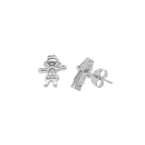 Cercei argint zirconiu girl - 5000000657339