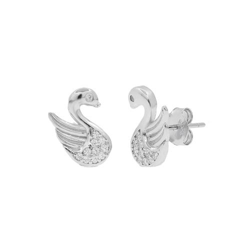 Cercei argint zirconiu swan - 5000000657599