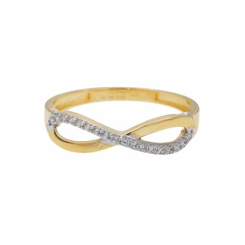 Inel aur 14k infinit cu pietre din zirconiu - 2900160013002