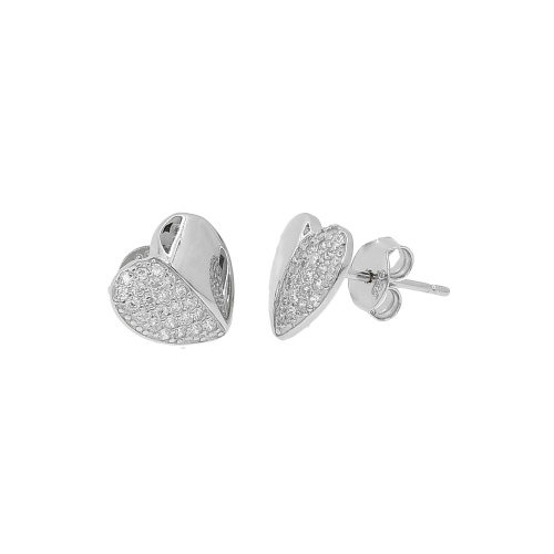 Cercei argint zirconiu heart cut - 5000000656097