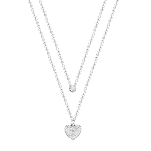 Lant argint zirconiu hearts - 5000000656707