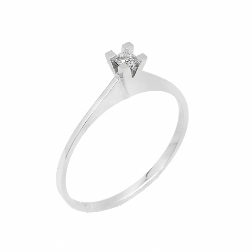 Inel logodna din aur 18k cu diamant, 0,05 G SI - 6012000049471