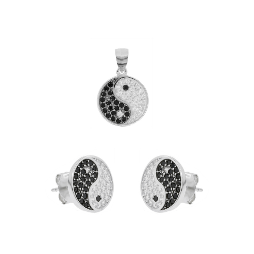 Set argint zirconiu yin&yang - 5000000655731