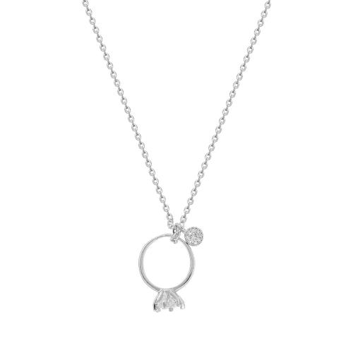 Lant argint pandantiv zirconiu inel  - 5000000660827