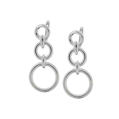 Cercei argint triplu creole - 5000000659777