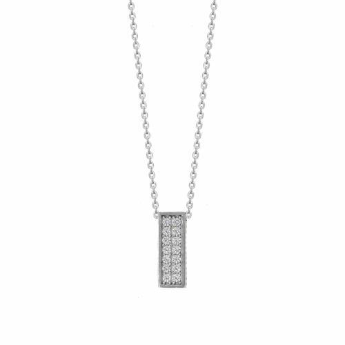 Lant aur 14k cu pandantiv pietre zirconiu - 2900201018805