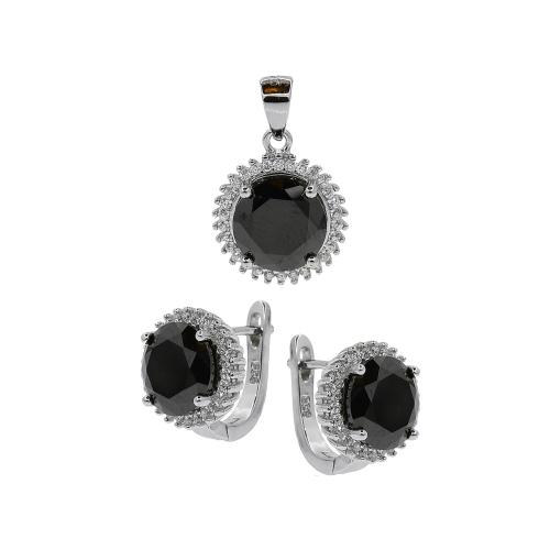 Set argint zirconiu elliato - 5000000659913 Argint Zirconiu Negru