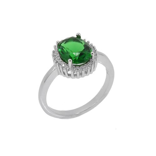 Inel argint zirconiu nova - 5000000659944 Argint Zirconiu 19 Verde