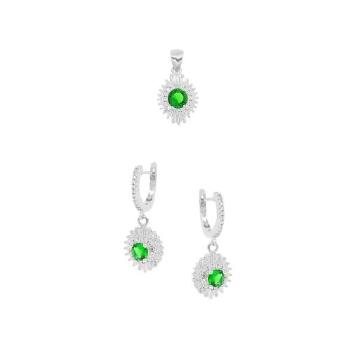 Set argint zirconiu elegant - 5000000657896 Argint Zirconiu Verde
