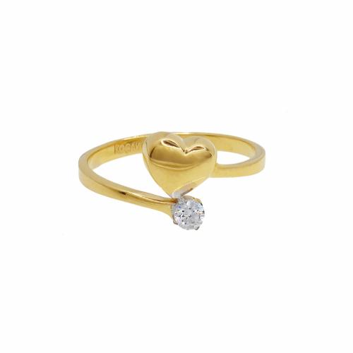 Inel aur 14k zirconiu inima - 2900520016407