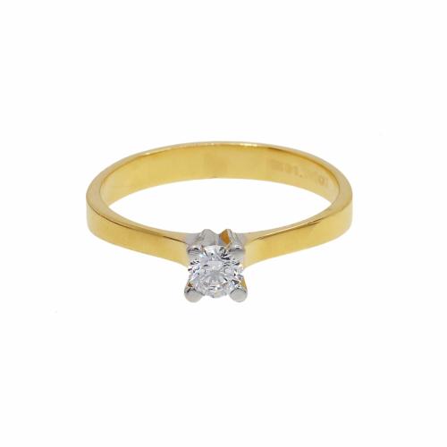 Inel de logodna aur 14k zirconiu - 2900069024505