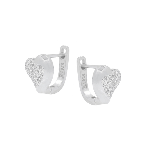 Cercei argint zirconiu hearts- 5000000667536