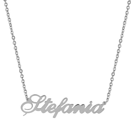 Pandantiv cu lant personalizat Stefania - 5000000672127