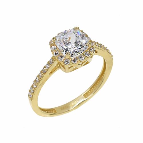 Inel de logodna aur 14k zirconiu - 2920340021900