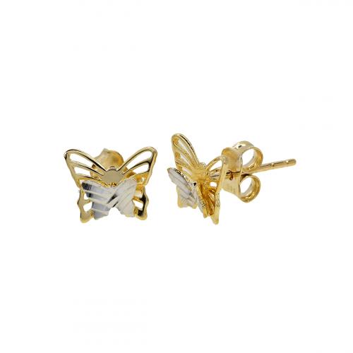 Cercei aur 14K butterfly - 2920155010304