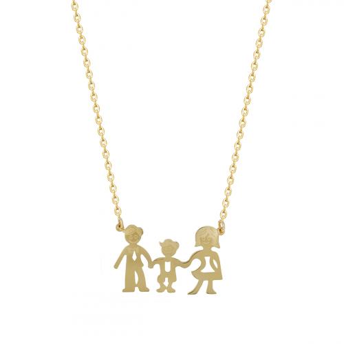 Lant aur 14K cu pandant family - 2904203023003