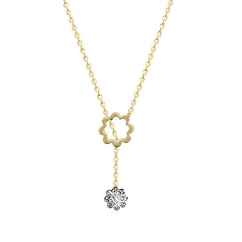 Lant aur 14k cu pandant fleur - 2905384019106