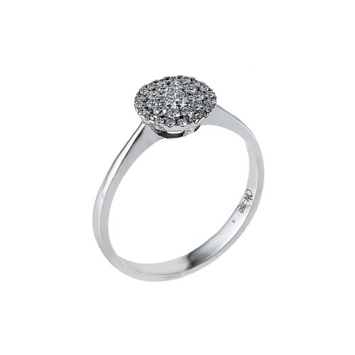 Inel aur 18k incrustat cu diamante 0.12 G VS 0.10 G VS - 6012000006849