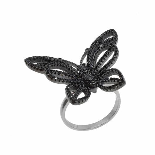 Inel argint fluture zirconiu  - 599196x*