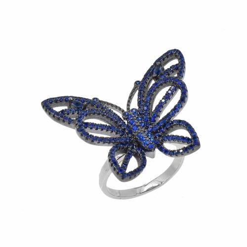 Inel argint fluture zirconiu - 599196y*