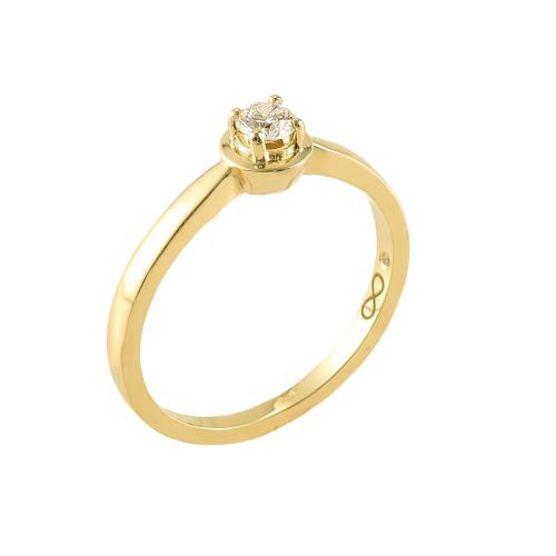 Inel logodna aur 18K cu diamant 0.16 G VS - 6020000010742