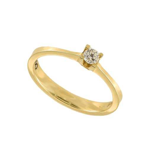 Inel logodna aur 18K cu diamant 0.11 G VS - 6020000010315
