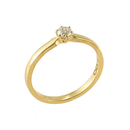 Inel logodna aur 18K cu diamant 0.16 G VS - 6020000010421