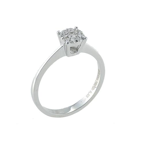 Inel logodna aur 18K cu diamante 0.22 G VS - 6020000010766
