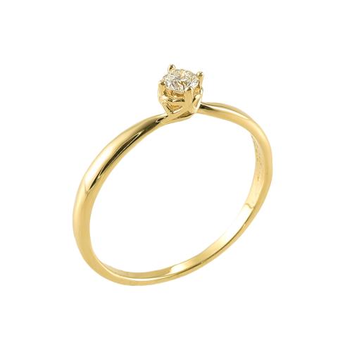 Inel logodna aur 18K cu diamant 0.21 E-F P - 6020000010438