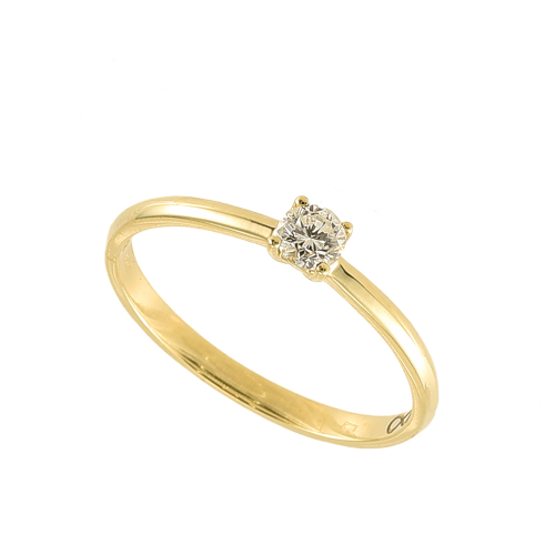 Inel logodna aur 18K cu diamant 0.21 E-F SI - 6020000010445