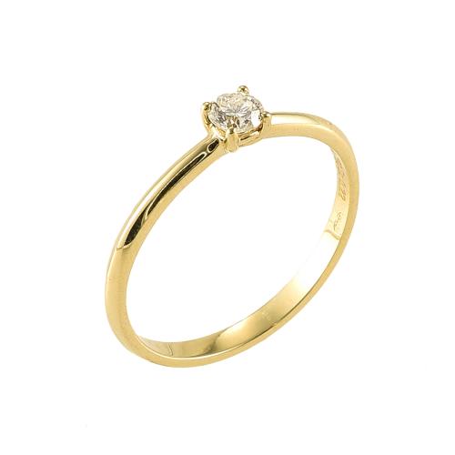 Inel logodna aur 18K cu diamant 0.11 G VS - 6020000010476