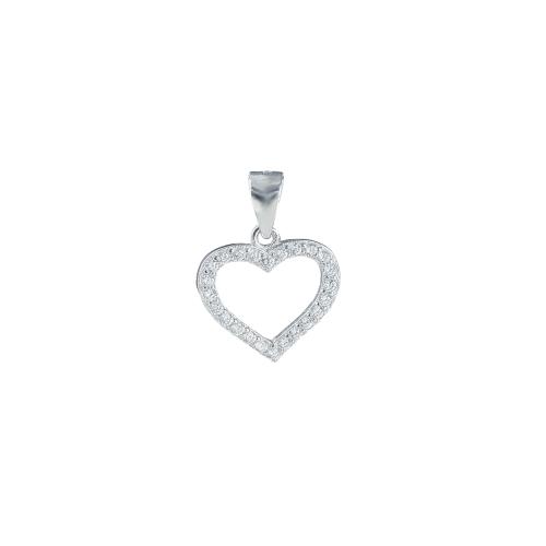 Pandant argint zirconiu inima  - 5000000694419