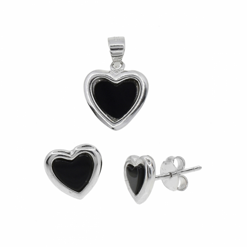 Set argint inima - 606054