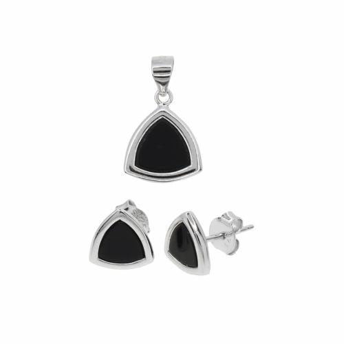 Set argint geometric - 606047
