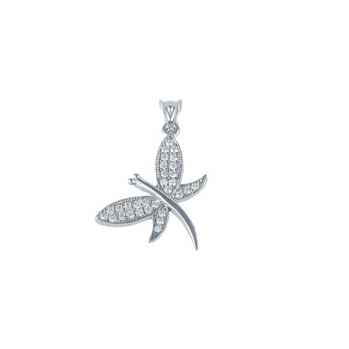 Pandant argint zirconiu butterfly - 5000000700653