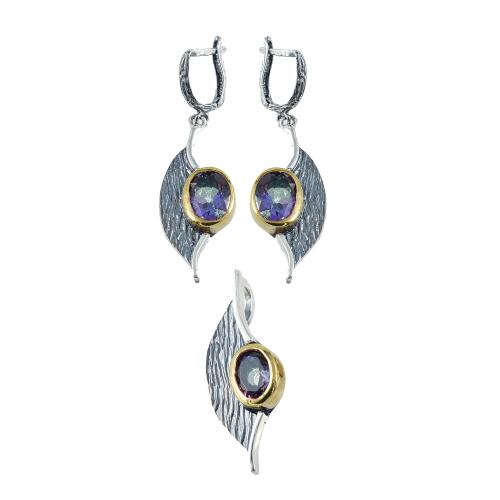 Set argint zirconiu vintage - 5000000701520