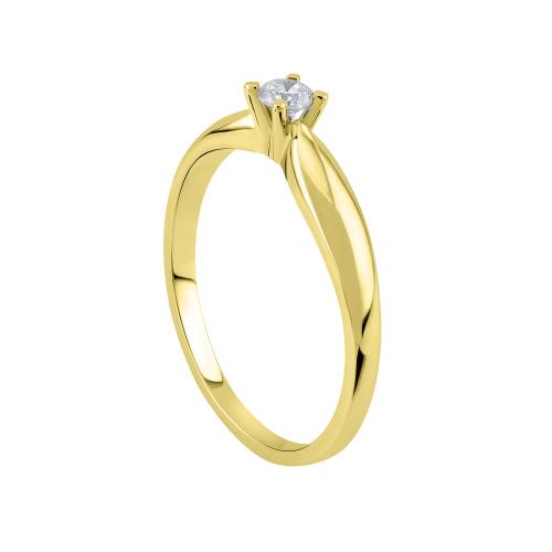 Inel logodna aur 18K cu diamant 0.08 kt - 6020000022738