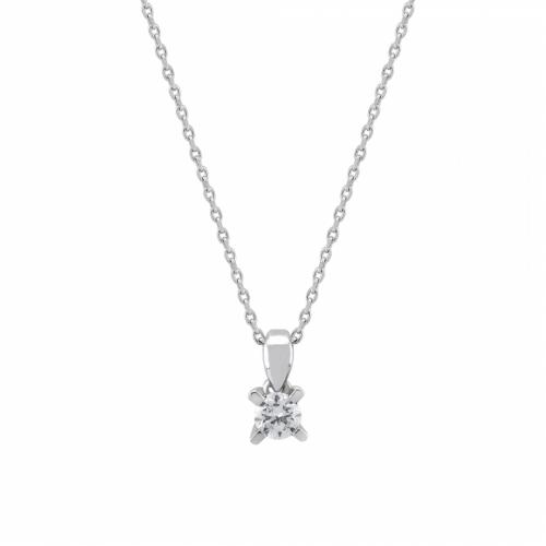 Lant aur 18k cu pandant diamant 0.08 kt - 6020000028235