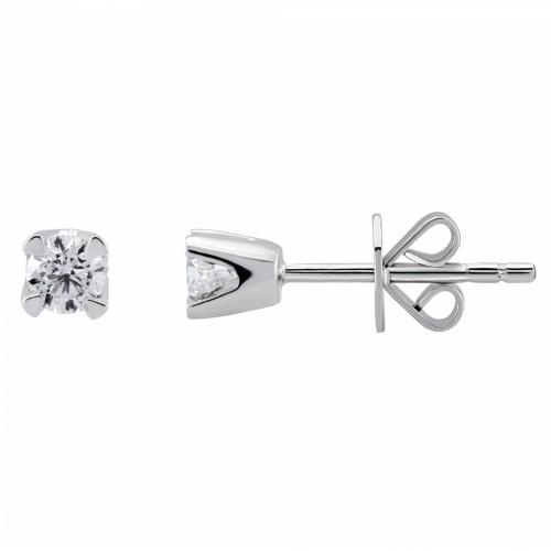 Cercei aur 18K cu diamant 0.10 kt - 6020000028761