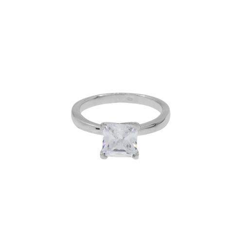 Inel argint logodna piatra zirconiu - 608614