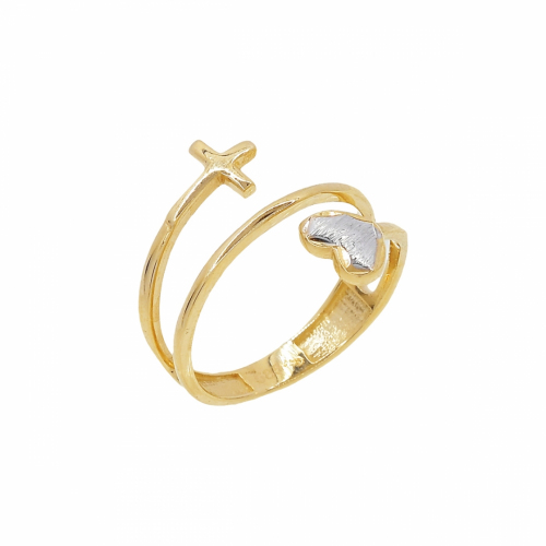 Inel aur 14k zirconiu abstract - 2920436017503
