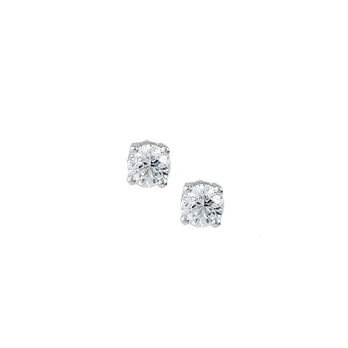 Cercei aur 18K cu diamante 0.51 F-G SI - 6011000016162