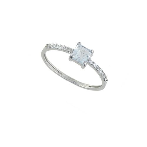 Inel aur 18K cu diamante si aquamarin 0.07 G VS2 AQ 0.39 - 6090000087792