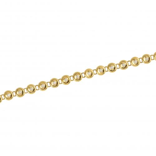 Bratara aur 18K cu diamante 0.5 H SI - 6090000087402